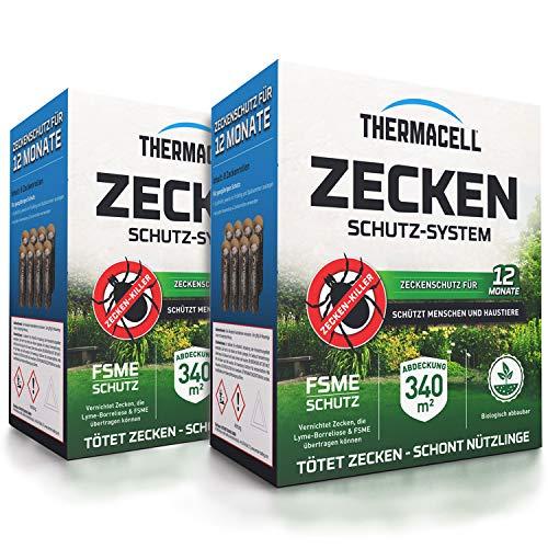 Thermacell Zeckenschutzsystem 8er Pack - Zeckenschutz Doppelpack - inklusive Rasch Mückenfreipapier
