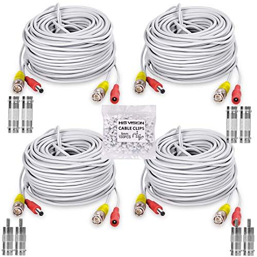 HISVISION 4 Pack 100FT/30M BNC V...
