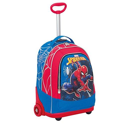 Trolley Marvel , ULTIMATE SPIDERMAN WEBBED WONDER , Rosso , 30 Lt , 2in1 Zaino  con spallacci a scomparsa , Scuola & Viaggio