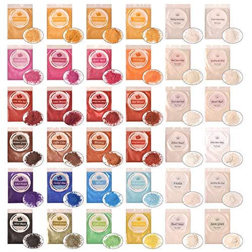 DEWEL 36er Epoxidharz Farbe, Mica Pulver Farbpigmente Epoxidharz Metallic Farbe Resin Farbe...