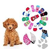 YMKT Calcetines antideslizantes para perros, protección de patas, calcetines de punto, talla S-XL, para perros y gatos