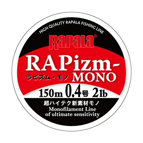 ラパラ ラピズム モノ ナイロン 0.4号 2lb 150m クリア RAPIZM-MONO RPZM150M04CL