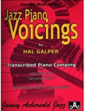 Jazz Piano Voicings: Transcribed Piano Comping from Volume 55 Jerome Kern of the Aebersold Play-A-Long Series