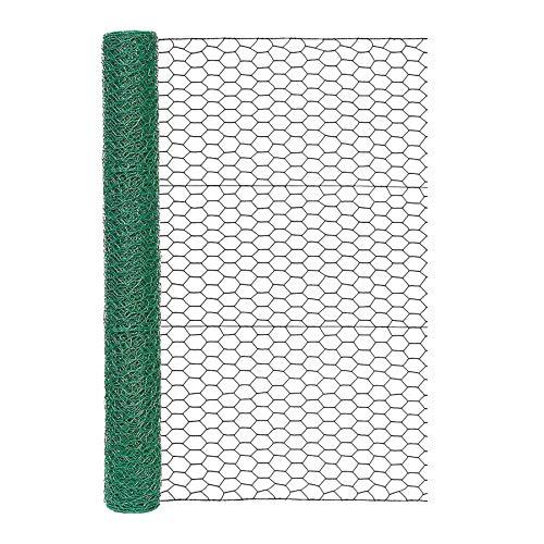 Garden Zone 173625 36 Inches x 25 Feet Gauge Poultry Netting, 36' x 25', Green