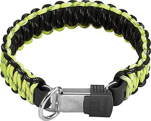 Sprenger Hundehalsband aus stabilem Paracord Nylon mit Edelstahl Clic Lock Verschluss I wasserabweisende Halskette, reflektierend, langlebig 50 cm, gelb