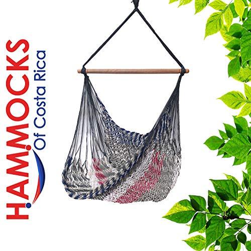Handmade Hanging Hammock Chair with Spreader Bar for Yard, Bedroom, Porch, Indoor/Outdoor HCR-2211-131
