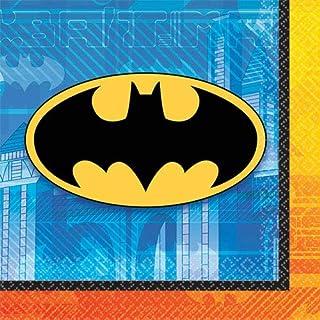 مناديل بشعار باتمان من امسكان - (اسود، اصفر، ازرق)، 16 قطعة، 501386