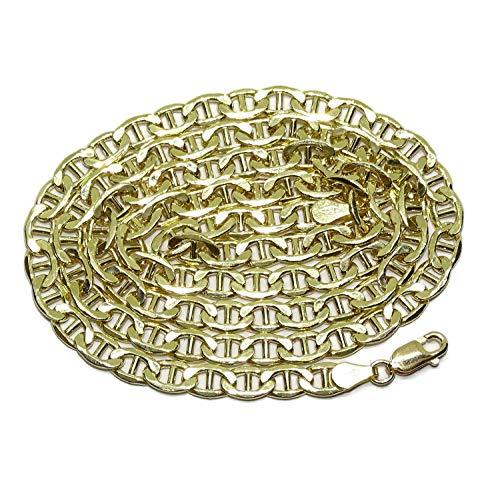 Never Say Never - Collana da uomo in oro giallo 18 carati, modello Ancora, 5 mm di larghezza e 60 cm di lunghezza, con chiusura a moschettone Peso: 15 grammi di oro da 18 carati.