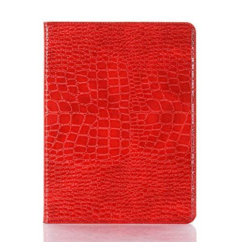 tanxinxing Cocodrilo del Cuero del Folio Elegante del Soporte Cubierta Dura de la Cubierta de la luz-Peso Reposo automático de Despertador for iPad Pro 12,9 Pulgadas (4 Gen, 2020). (Color : Rojo)