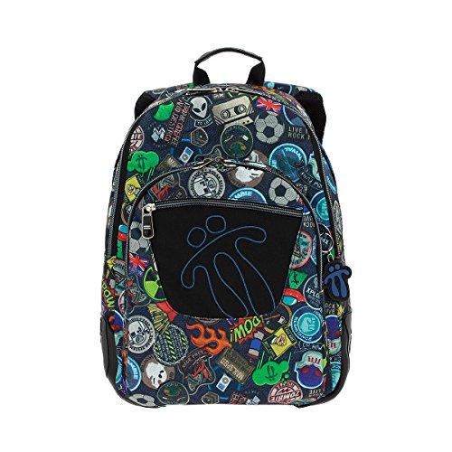 Totto MA04ECO002-1710N-1LY Crayola Mochila tipo casual, 44 cm, 20 litros, Multicolor