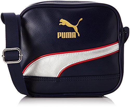 Puma borsa a tracolla Originals Portable Unisex - Blu (Peacoat/Metallic Silver) - Taglia unica