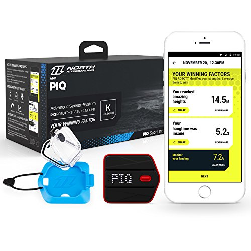 PIQ BGOLF1 Golf Set Multisport Sensor, Schwunganalyse, Range Finder, Digitale Scorecard Schwarz/Rot