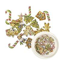 HANGQINGHENG 1箱50クリスマスネイルデコレーションステッカースノーマンキャンディクリスマスツリー3Dネイルアクセサリー (Color : 01)