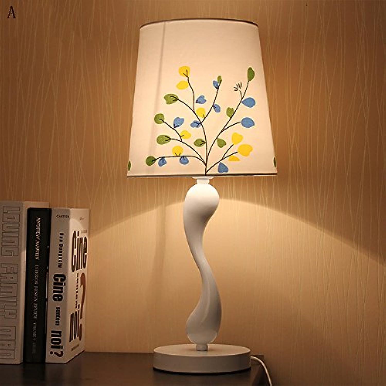 The harvest season- Moderne einfache tischlampe mode stoff schlafzimmer tischlampe pastorale lichter A+ (Farbe   A)