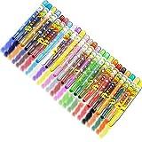 ZEEYUAN Lápices de cera, 24 colores fuertes, lavables, resistentes al agua, con funda des...