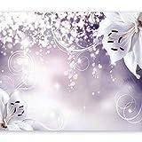 murando - Fototapete Blumen 450x315 cm - Vlies Tapete - Moderne Wanddeko - Design Tapete - Wandtapete - Wand Dekoration - Lilien Lila Abstrakt Ornament Bokeh b-A-0012-a-d