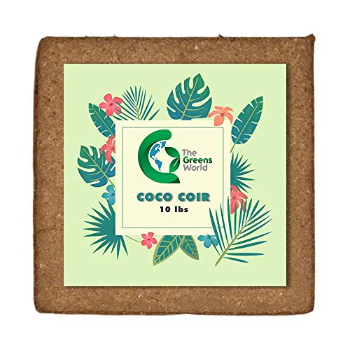 Coco Coir Potting Soil for Indoor Plants – 5kg Coconut Coir Peat Moss – All-Natural Coconut Fiber – Large Water Holding Capacity and High Porosity – Ideal for Potting Mix, Hydroponic Projects