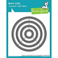 Lawn Fawn Custom Craft Dies - Large Cross Stitched Circle dies by Lawn Fawn