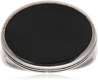 خاتم ملاكي من الفضة الاسترلينية بحجر ازرق للرجال من عتيق