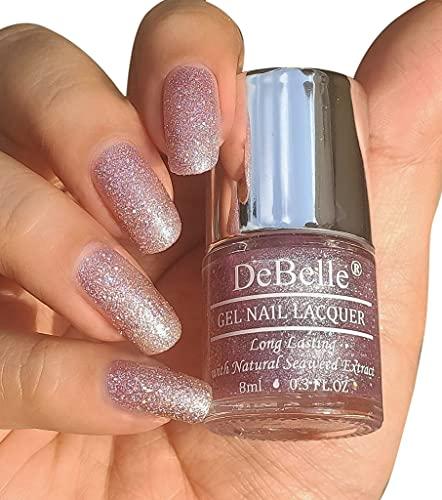 DeBelle GelPurpleNail Polish-Lavender with Holo Glitter Sugar Finish(Ophelia), 8 ml