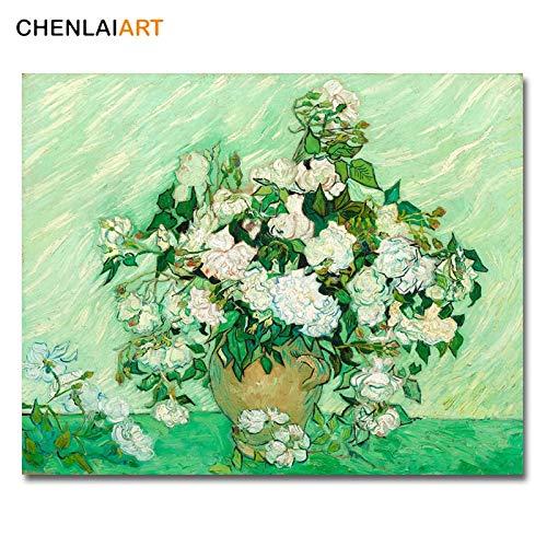 Frameloos Vincent Van Gogh Beroemde Print Canvas Schilderij Rozen Poster Muur Foto Woonkamer Posters En Prints Muur Kunst <> 60x75cm