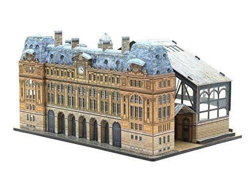 keranova3011: 220Escala Clever Papel histórico Edificios Gare Saint Lazare 3D Puzzle