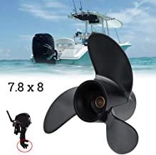GreceYou 3R1W64516-0 Aluminum Outboard Propeller 7.8x8 for Tohatsu/Mercury 5hp 6hp Outboard Motor Accessories Parts