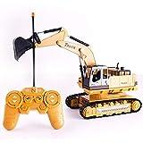 Toy Escavatore potente elettrico di grandi dimensioni a distanza escavatore di controllo Modello Professionale 2.4GHz 8CH Radio Control Vehicle Engineering con il suono e effetti di luce ricaricabile