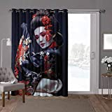 YUAZHOQI - Cortina térmica para puerta de cristal deslizante, Japón, Geisha en kimono con Sakura, 100 x 96 pulgadas, decoración moderna para el hogar infantil (1 panel)