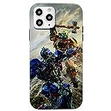 Coole Schutzhülle für iPhone 12 / iPhone 12 Pro (6.1) (Transformers) aus weichem TPU-Kunststoff mit Full-HD & Grafiken