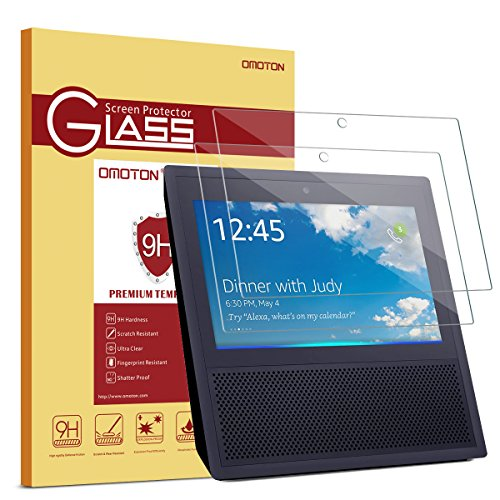 Buy Cheap OMOTON Tempered Glass Screen Protector Compatible Echo Show 1st Gen (2 Pack)