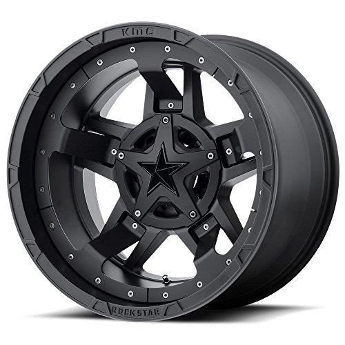 XD SERIES BY KMC WHEELS XD827 ROCKSTAR III BLACK Wheel Chromium (hexavalent compounds) (17 x 9. inches /8 x 125 mm, -12 mm Offset)