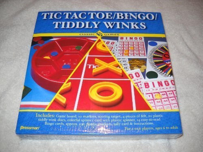 centro comercial de moda Classic Juegos - Tic Tac Toe Toe Toe Bingo Tiddly Winks by Pressman Juguete Corp.  ganancia cero