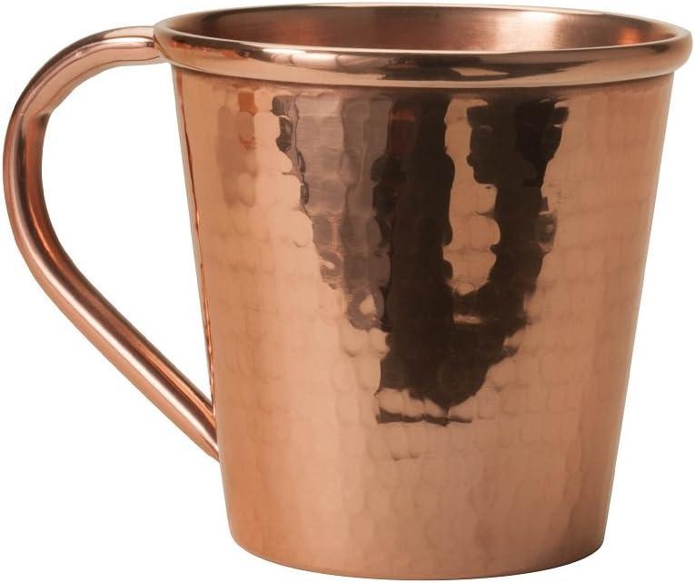 Sertodo Copper CMMc-12 Moscow Mule Mug, Hand Hammered 100% Pure Copper, 12 oz, Single