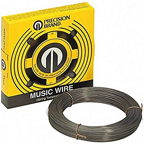 Precision Brand 039-21063 Music Wire, 0.063″ Diameter, 1 lb. Coil, High Carbon, Spring Tempered, C1085 Steel, 293 KSI Min Tensile Strength, 324 KSI Max Tensile Strength
