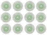 12 Pack 3/4' Light Green 3M 1 Micron Radial Discs Polishing Set Metal Finishing Jewelry Making Flex Shaft Rotary Tool Kit