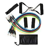 Tubos de látex Pedal Ejercicio Equipos de entrenamiento de entrenamiento corporal para Yoga Fitness Cuerdas elásticas Bandas de resistencia de goma 11pcs / set