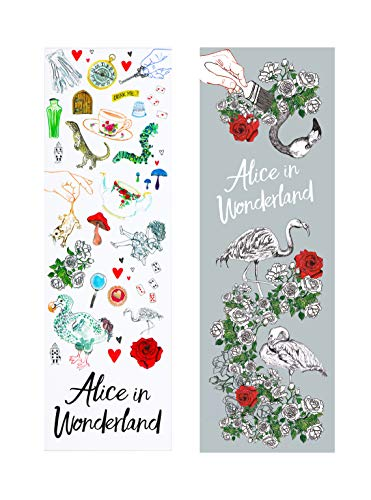 Alicia en el país de las maravillas - 2 marcadores (Dorothy, El Espantapájaros, Hombre de Estaño y León Cobarde)