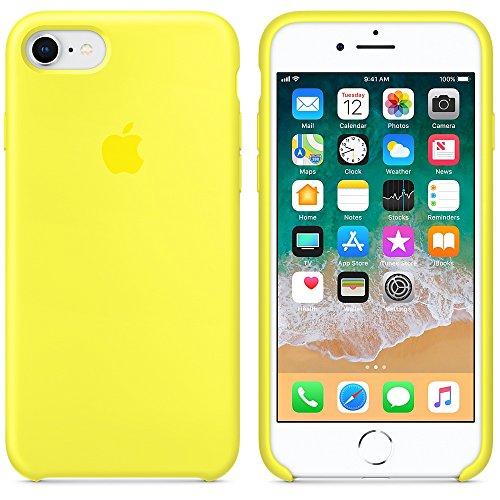 Funda para iPhone 7/8 Carcasa Silicona Suave Colores del Caramelo con Superfino Pelusa Forro,Anti-rasguños Teléfono Caso para Apple iPhone 7/8 (iPhone 7/8, Amarillo neón)