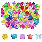Sweieoni Cuentas Abalorios de Colores 750 Piezas Redonda Estrella Mariposa Flores Corazón Cuentas Colores Plástico Cuentas de Colores para Hacer Pulseras Collares