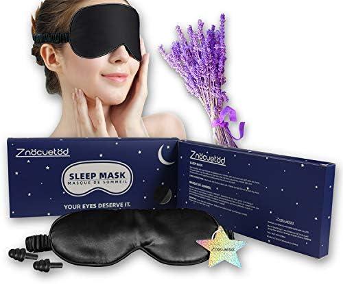 Silk Eye Mask for Sleeping Lavender Sleep Mask for Men Women Soft Eye Blindfold for Yoga Meditation product image