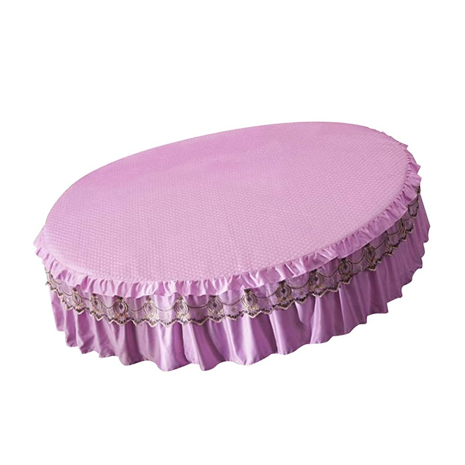 つかむ最愛の軽蔑KESOTO ベッドカバー フリル ベッドスカート 絹綿 超快適 円形 フィットシーツ 結婚式贈り物 - 200×200cm