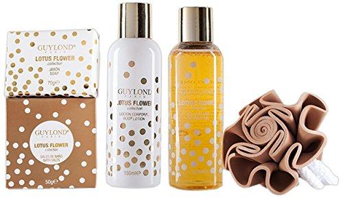 Baño Guylond Lotus Flower Collection Ronda Set, 1er Pack (1 x 420 g)
