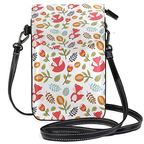 XCNGG bolso del teléfono Hedgehog Nut Maple Leaf Cell Phone Purse Crossbody Bag Pouch Shoulder Bags Wallet for women Girls Travel Wedding