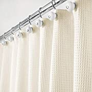 """mDesign Hotel Quality Polyester/Cotton Blend Fabric Shower Curtain with Waffle Weave and Rust-Resistant Metal Grommets for Bathroom Showers and Bathtubs - 72"""" x 72"""" - Sand/Khaki"""