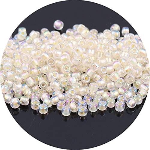 2mm 3mm cristallo all'interno colori perline di vetro fascino perline ceche per collana braccialetto fai da te gioielli che fanno accessori di abbigliamento-giallo, 2mm 720 pezzi