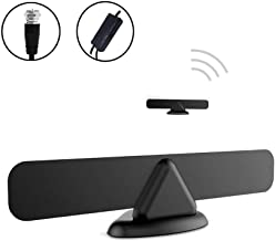 Antess Digital Indoor Tv Antenna AN-1015 – Amplified 60 120 Miles Range Support 4K 1080p and Older TV's 9.8ft Coax Cable/USB Power Adapter Black [Newest 2019]