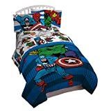 Jay Franco Comics Avengers Good Guys 4 Piece Twin Bed Set (Offical Marvel Product)