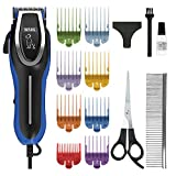 Wahl Pet Clippers, U-Clip Dog Grooming Kit with Colour Coded Combs, Full Coat Grooming Clippers for Dogs, Low Noise Corded Pet Clippers, Sharp Cutting Steel Blades