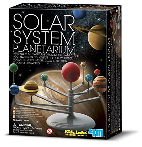 4M 3427 Solar System Planetarium - DIY Glow In The Dark Astronomy Planet Model Stem Toys Gift for Kids & Teens, Girls & Boys